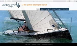Création du site internet d'un concept de voilier design