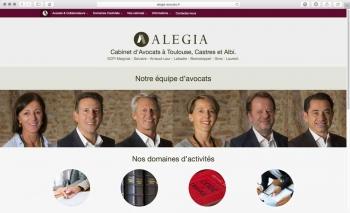 Création du site internet | Cabinet d'avocats | Alegia
