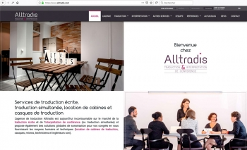 Création du webdesign | Traduction | Alltradis
