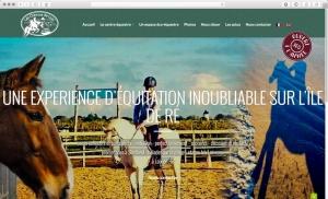 Création du site internet d'un centre équestre à l'île de Ré