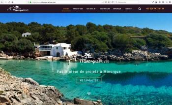 Création du webdesign | Conseil en immobilier | Minorque Privée