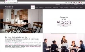 Création du site internet d'une société de traduction, Alltradis