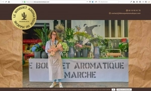 Création du site internet d'une fleuriste, en cours