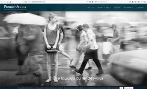 Création du site internet d'une agence de communication au sein de celle-ci. Prométhée