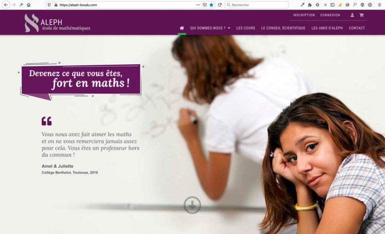 Création du site internet Aleph, école de maths